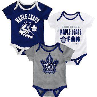 bda44e6911f5 Toronto Maple Leafs Newborn Navy/White/Gray Even Strength Three-Piece  Bodysuit Set #affiliate
