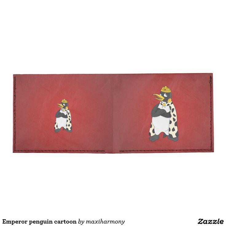 Emperor penguin cartoon billfold wallet