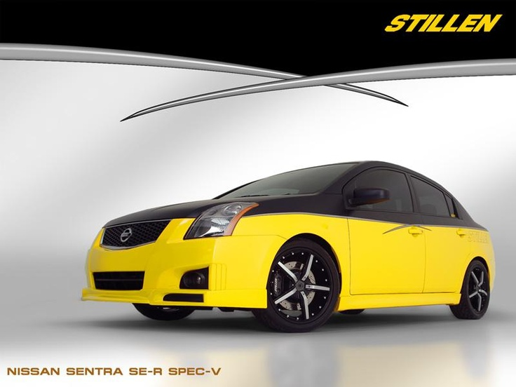 Custom flatblack paint with silver accents  STILLEN Nissan