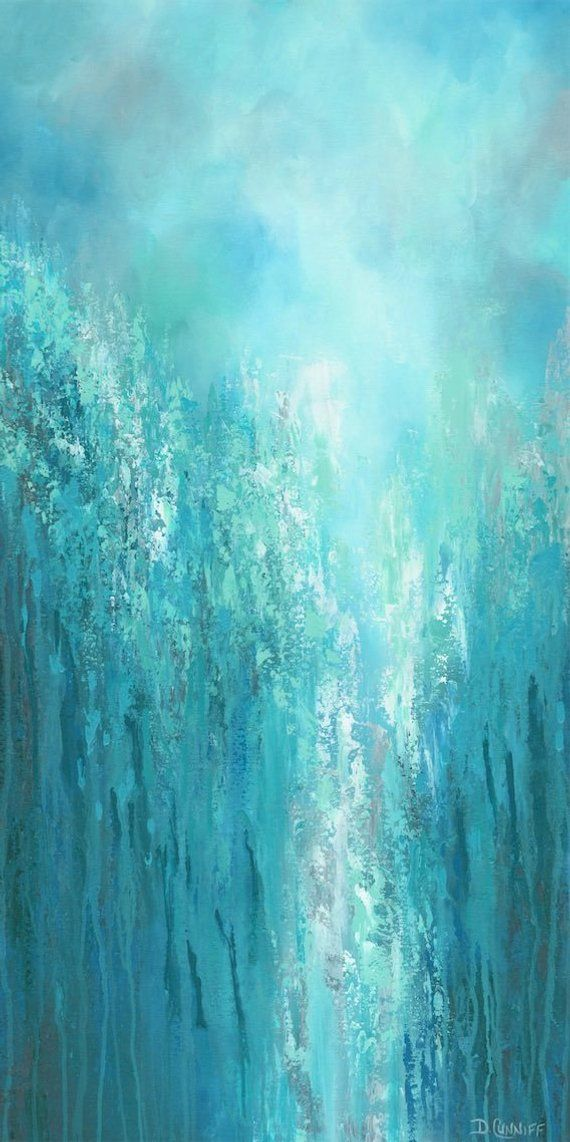 large original wall art gray turquoise teal green blue on large wall art id=63645