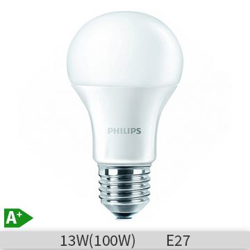 Bec LED Philips 13W, E27, 230V, A60 FR ND 4, 4000k, lumina neutra, 929001179401