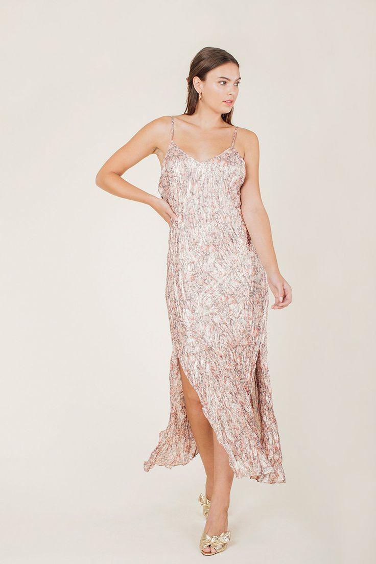 Kate ruffle slip dress dresses slip dress pink dress