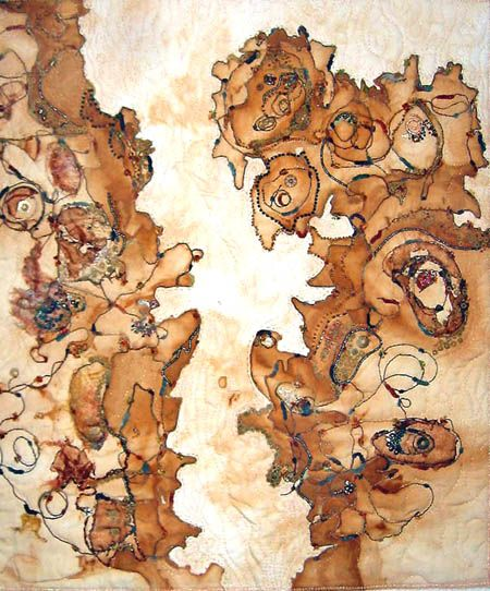 Claire Fenton Landforms. Rust dyeing