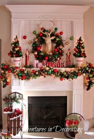 A Whole Bunch Of Christmas Mantels 2013 - Christmas Decorating - by giovanna.lombana