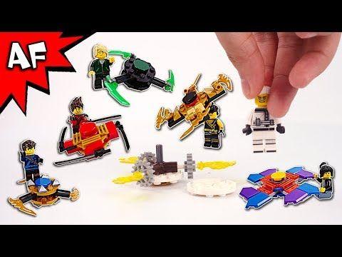 Lego Ninjago Brick Building FIDGET SPINNERS with Ninja Minifigures - YouTube