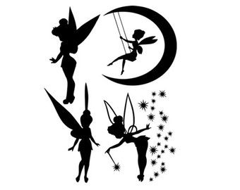 tinkerbell svg dxf file instant download silhouette cameo