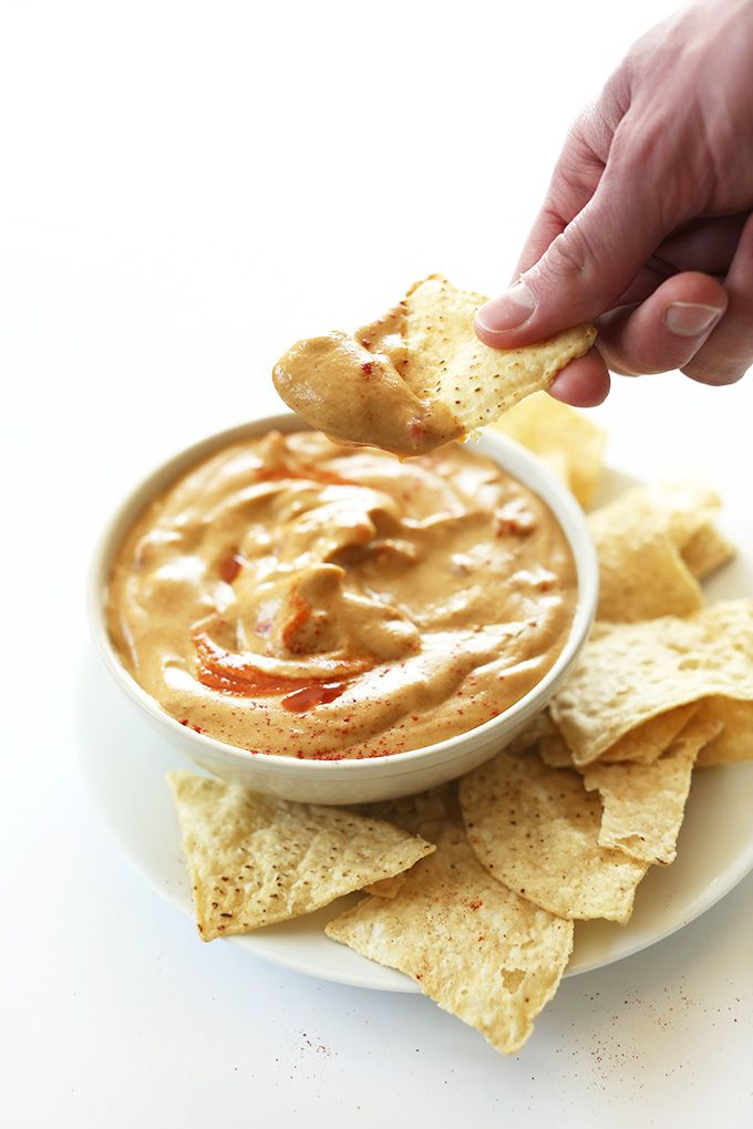 THE BEST Vegan Queso Dip! CASHEW FREE! Nut, soy, gluten, corn, dairy free and SO creamy and delicious!