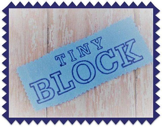 Tiny Alphabet Block Machine Embroidery Font Design | Fonts