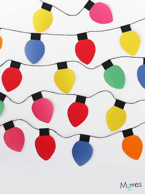 Une guirlande de lumières de noël en papier, par La maison de Loulou pour Momes !
