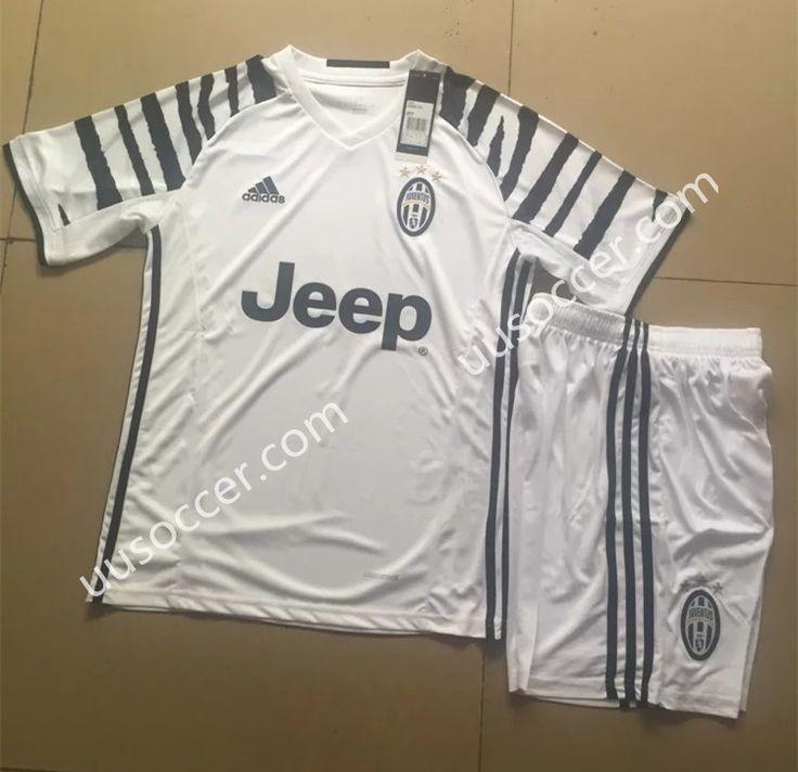 2016/17 Juventus 2nd Away White Soccer Uniform