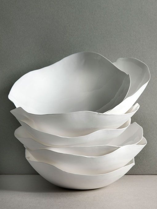 White Ruffles Food Plates #Design
