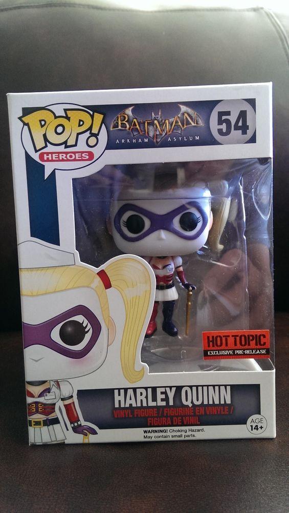 NEW RARE Funko Pop DC Comics Harley Quinn Batman Arkham Asylum Hot Topic 54