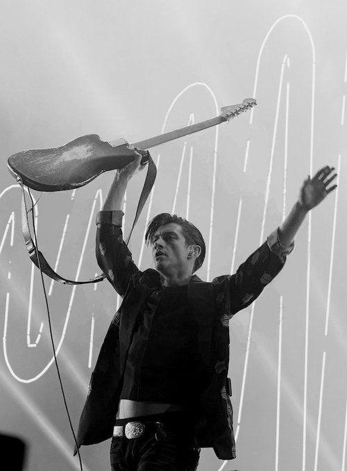 Alex Turner by Ross Halfin, Finsbury Park 2014