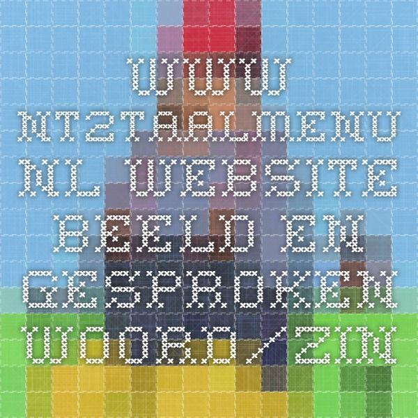 www.nt2taalmenu.nl website beeld en gesproken woord/zin