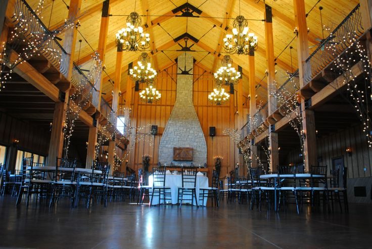 Ideas For The Reception Decorate Posts In Hall With Lighted Trees Find This Pin And More On Wedding Venues Near Branson Mo