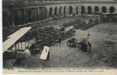 N D Phot Postcard - 432 Exposition à l'Hôtel des Invalides à Paris, des pièces d'Artillerie Allemande...