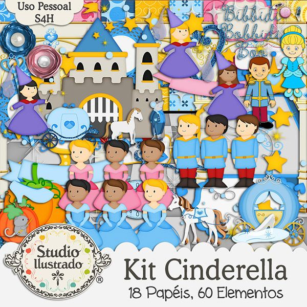 Kit Cinderella, Cinderela, Abóbora, Príncipe, Princesa, Sapatinho de Cristal, Castelo, Fada Madrinha, Conto de Fadas, Pó Mágico, Carruagem, Pumpkin, Prince, Princess, Glass Slipper, Castle, Fairy Godmother, Fairy Tale, Magic Powder, Carriage, Calabaza, Zapatilla de Cristal, Castillo, Hada Madrina, Cuento de Hadas, Polvos Mágicos, Carruaje, Kit Digital, Elementos, Papéis, Elements, Papers