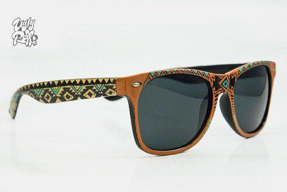 SunglassesAztec Fashion Wayfarer StyleUnique by Uglybell on Etsy, €35.00
