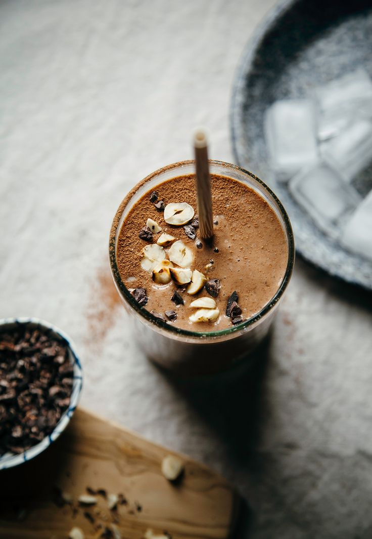 "vegan double chocolate hazelnut espresso shake from ""Blissful Basil"""