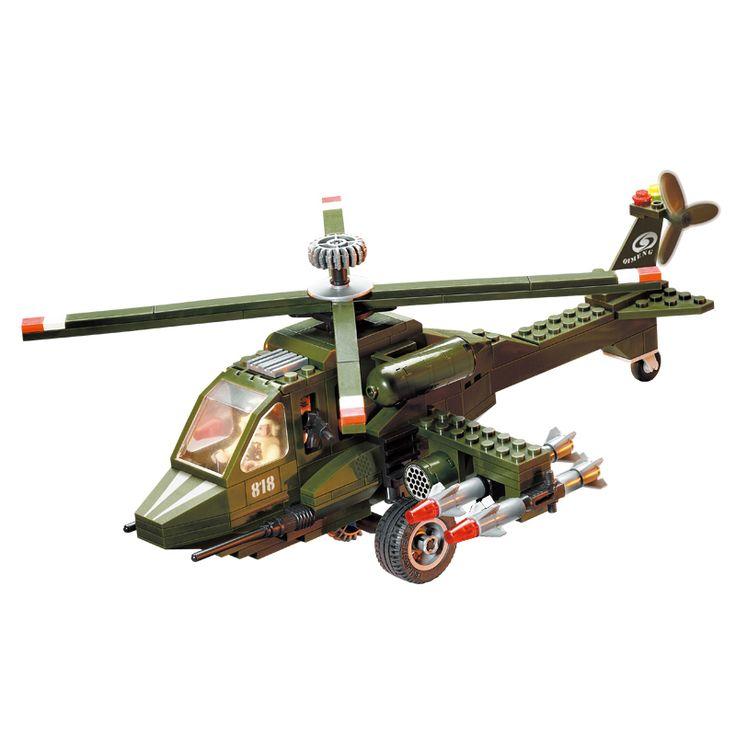 Строительные Блоки Военный Вертолет DIY Сборка Игрушки для Детей Подарок На День Рождения 275 шт. 818