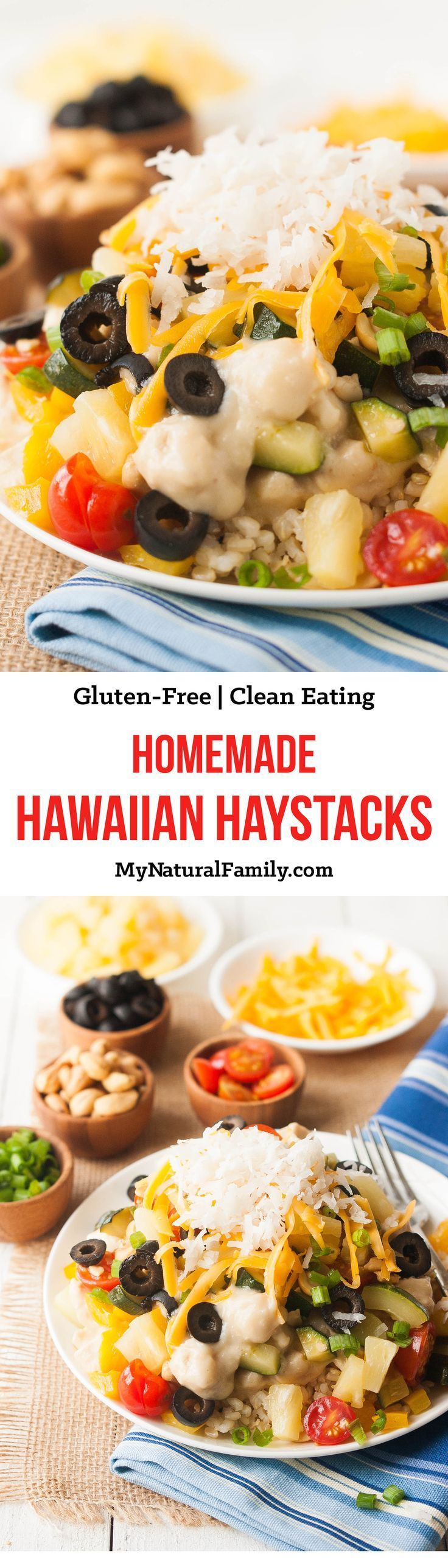 Homemade Hawaiian Haystacks Recipe {Gluten-Free, Clean Eating} - the quick white sauce only takes a few minutes and tastes so much better than a can of soup.