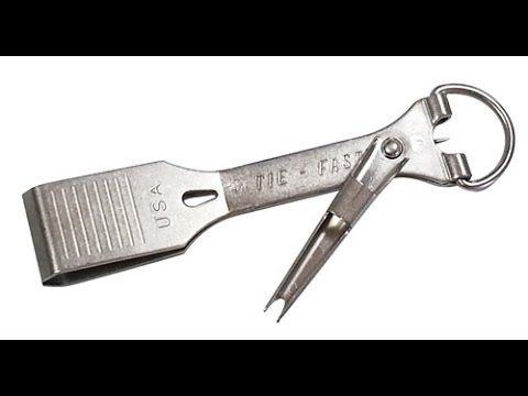 (124) рыболовные узлы - самодельный узловяз из спицы зонта - Quick Nail Knot - YouTube