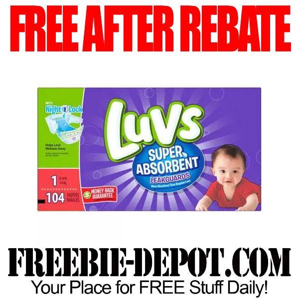 ►► FREE AFTER REBATE - Luvs Super Absorbent Disposable Diapers Jumbo Pack - Exp 10/21/15 ►► #FreeAfterRebate, #FreeStuffForBabies, #FREEbate ►► Freebie-Depot