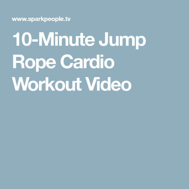 10-Minute Jump Rope Cardio Workout Video