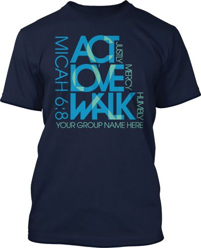 "Get ""Micah 6:8 Bible Verse"" and tons more awesome t-shirt designs customized for your Youth Group. Free design. Free shipping. Working with people who love serving ministry makes all the difference!"