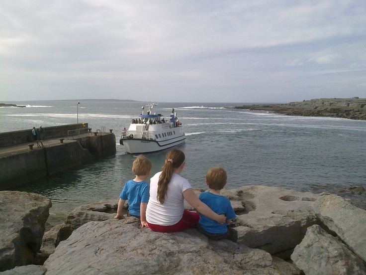 At Doolin pier watching the ferry to the Aran Islands come in :)