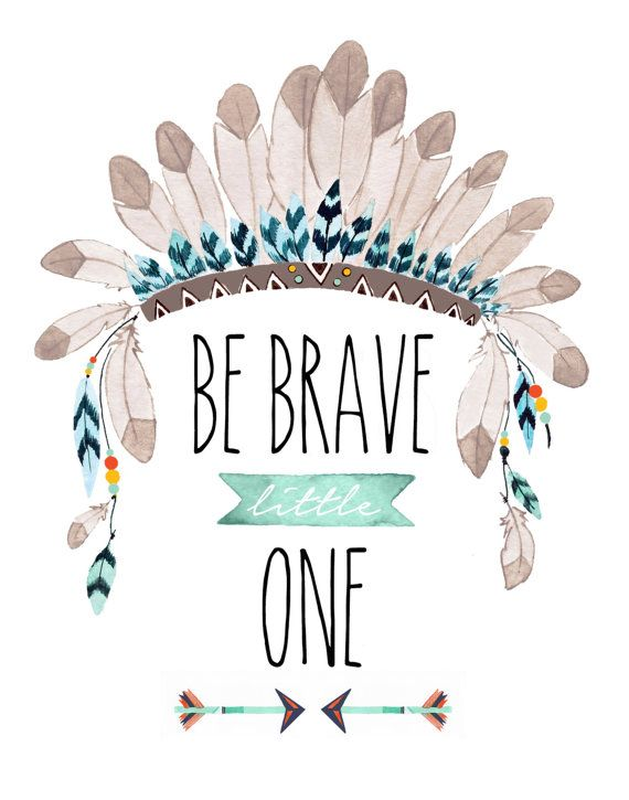 Be Brave Little One Dimensions: 8x10 This is an archival print of my original artwork. It is professionally printed with high quality,