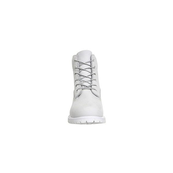 Timberland Premium 6 Boot (€180) ❤ liked on Polyvore featuring shoes, boots, ankle booties, white lace up boots, short lace up boots, lace-up ankle boots, lace-up ankle booties and waterproof boots