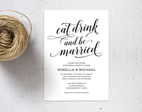 Best  Dinner Invitation Template Ideas On   Rehearsal