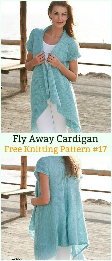21b2f5407e1975 Fly Away Cardigan Sweater Free Knitting Pattern - Women  Cardigan  Sweater  Coat Free  Knitting  Patterns