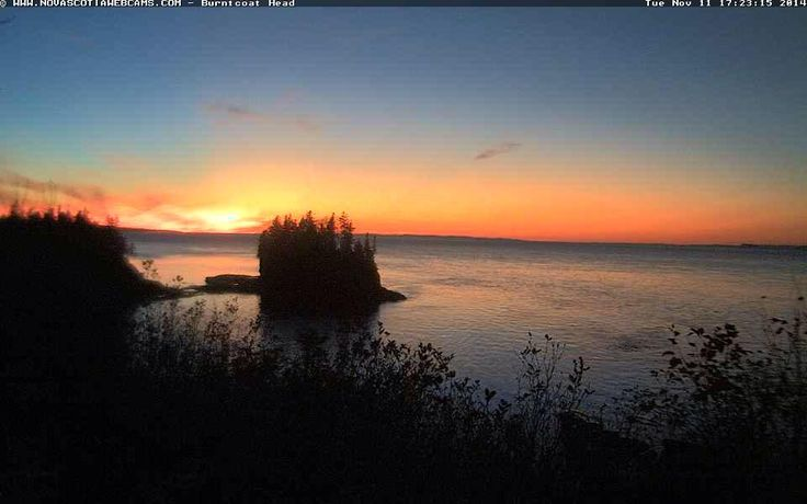 #Sunset at #BurntcoatHead, #NovaScotia - November 11, 2014  http://www.novascotiawebcams.com/en/webcams/burntcoat-head/