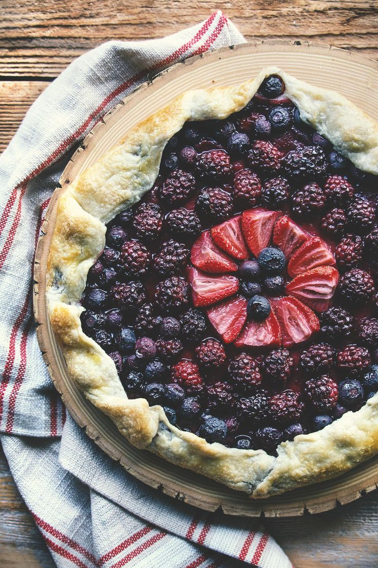 Summer Berry Galette by @HonestlyYUM: