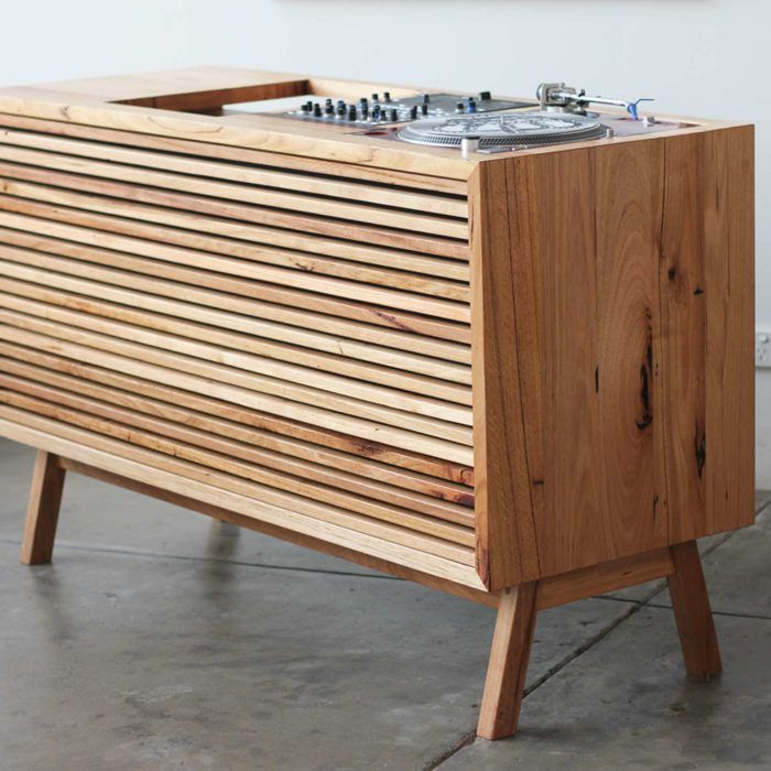 YARD Furniture, custom DJ console for a client made entirely from recycled timber.