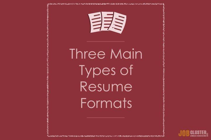 3 main resume formats #resumeformats #resume