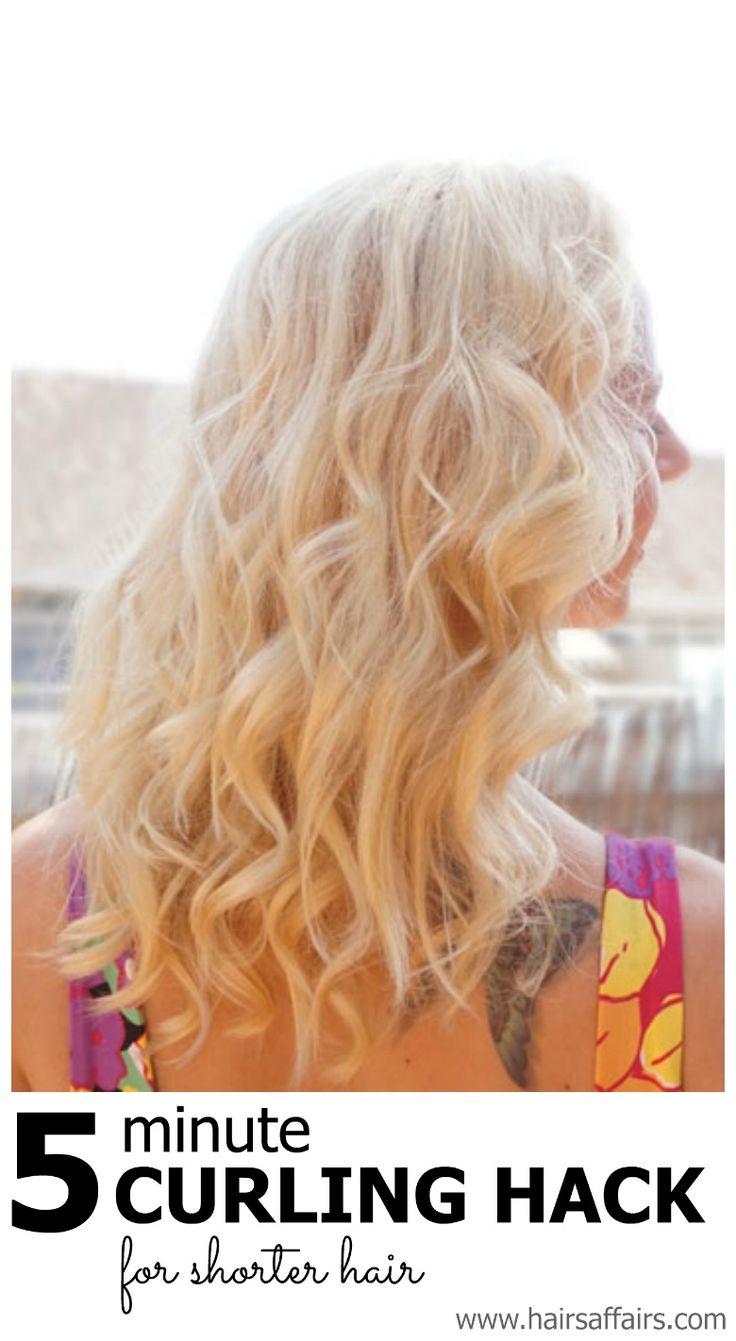 5 minute curling hack for shorter hair https://hairsaffairs.com/5-minute-curling-hack-short-hair/