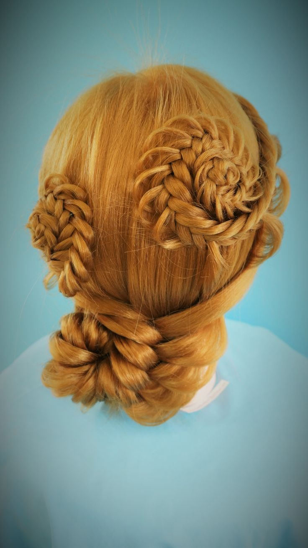 Flower Braids up do RULeR Hair Dressing makoto ishii