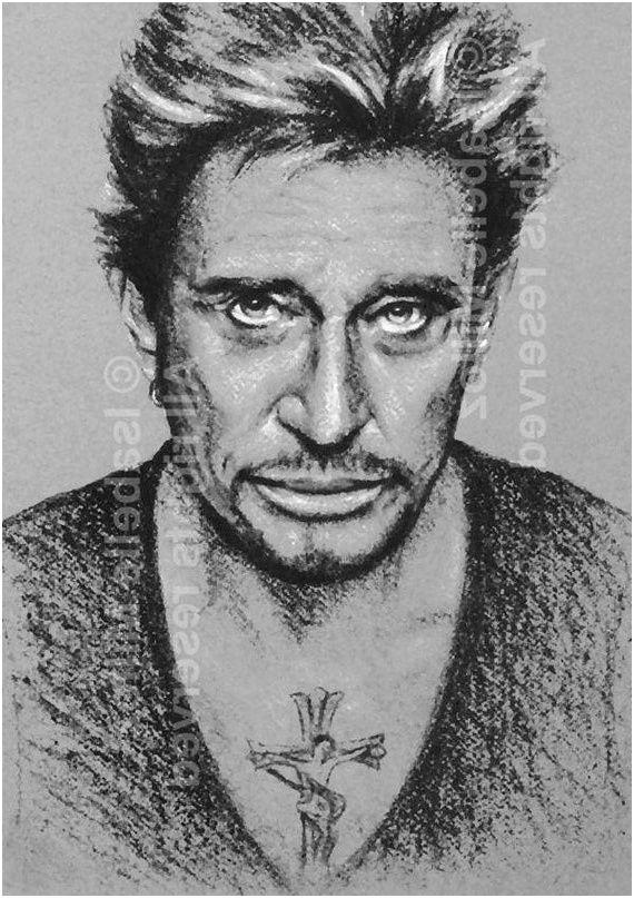 12 Excellent Johnny Hallyday Coloriage Gallery En 2020 Portrait Noir Et Blanc Johnny Hallyday Coloriage Chat
