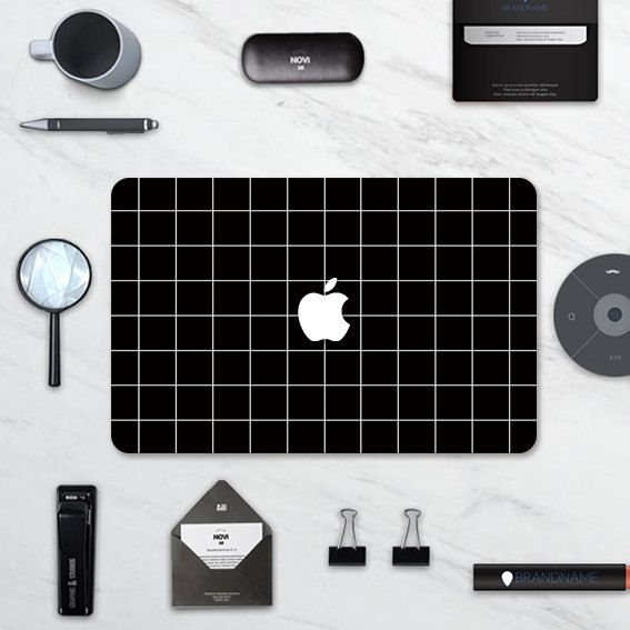 """black macbook decal macbook skin for Apple Macbook Air 11, Macbook Air 13 & Mac Pro 13 Retina, Macbook 12"""", Macbook Pro 15 Retina by idecalCrafts on Etsy"""