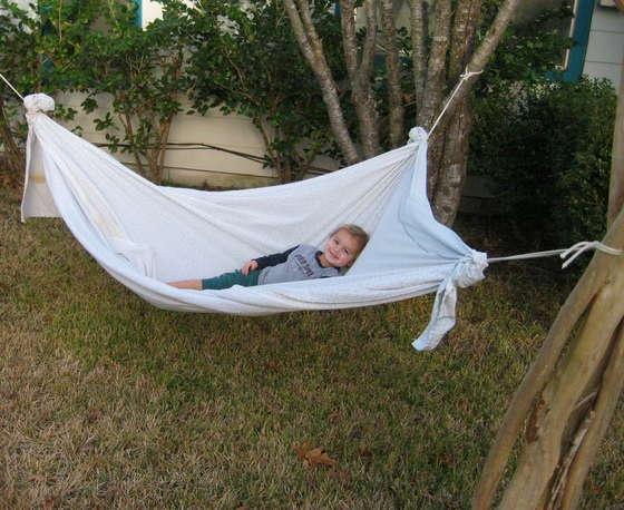 Danielle Smith Triangular Hammock.  Instant hammock