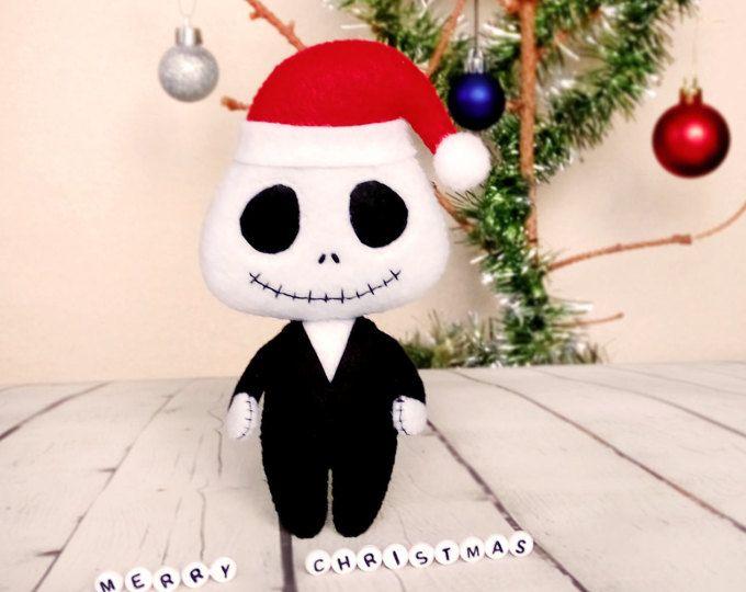 Halloween decoración Jack Skellington Santa sombrero pesadilla antes de Navidad decoración escalofriante Halloween lindo regalo Navidad adornos bebé ducha Favor