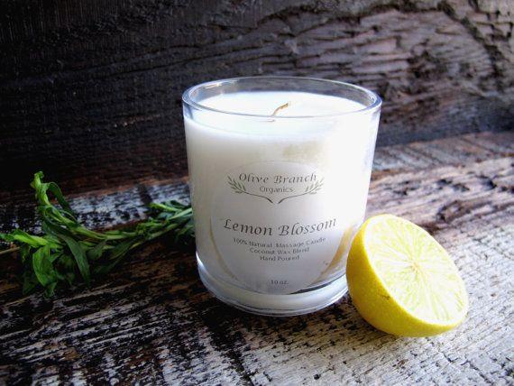 OliveBranch Organics - Organic Candle LEMON BLOSSOM Coconut Wax