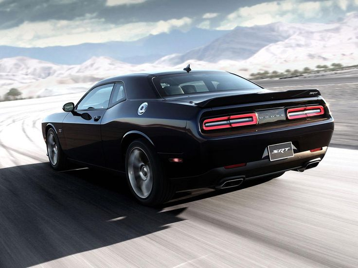 2015 Dodge Challenger Srt Rear Side View In Motion