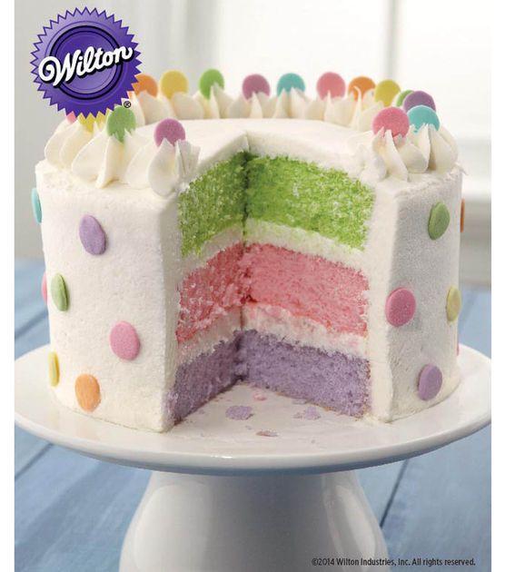 pretty dots layer cake recipe from wilton cake decorating cake decorating supplies - Decorating Cakes