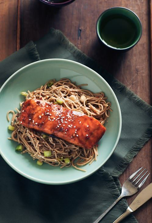 Salmon With Soy and Petimezi