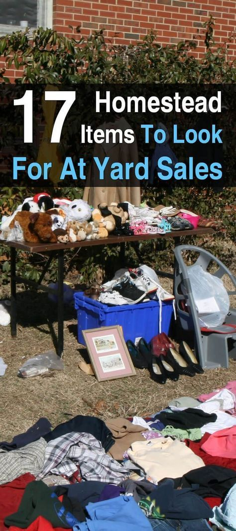 17 homestead items to look for at yard sales yard sales for Where to buy cheap land for homesteading