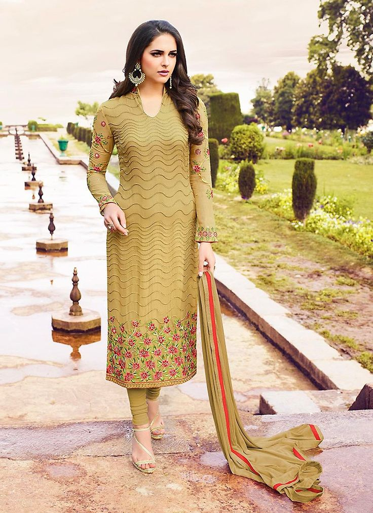 Brown Color with Butta Work Eye Catching Unstitched Salwar Kameez The lovely Resham & Lace work a substantial attribute of this attire.